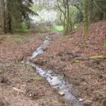 8. Im Zuge einer Kontrolle der Baustelle im Frühjahr 2014 zeigte sich auch wieviel Wasser der Kaltebach doch zeitweise führt