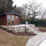 Privatgarten Hadamar - Terrasse Gartenhaus