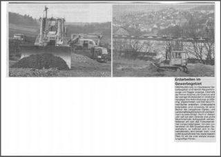 Zeitungsartikel zum Neubau des Bauhofs